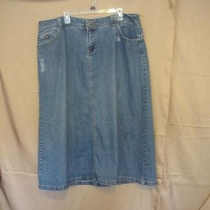 Cato Woman Denim Skirt 20W